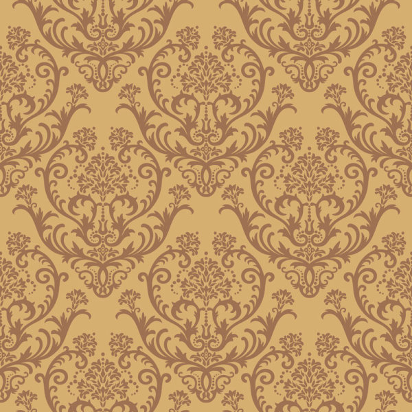 矢量精美样式图案连续花纹素材