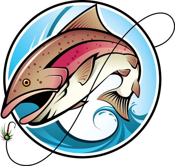 矢量钓鱼手绘图片素材