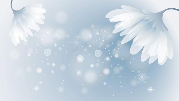 矢量浪漫花朵唯美背景素材