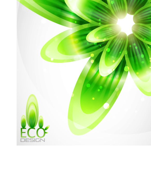 矢量绿色植物抽象背景素材