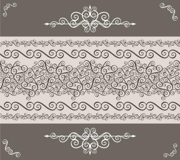 欧式边角花纹图片