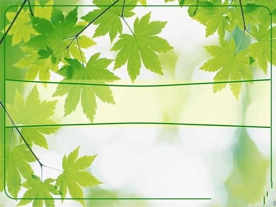 绿色树叶ppt幻灯片 ppt模板免费下载-千图网www