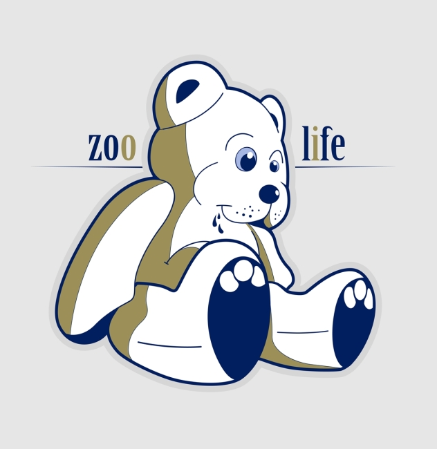 矢量手绘小熊动物插画素材