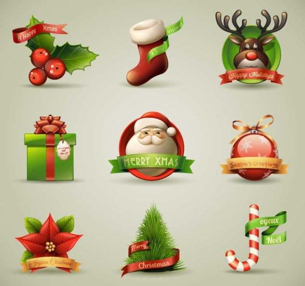 卡通圣诞节图标