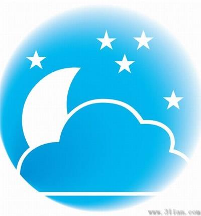 月亮星星图标矢量图免费下载-千图网www.58pic.com