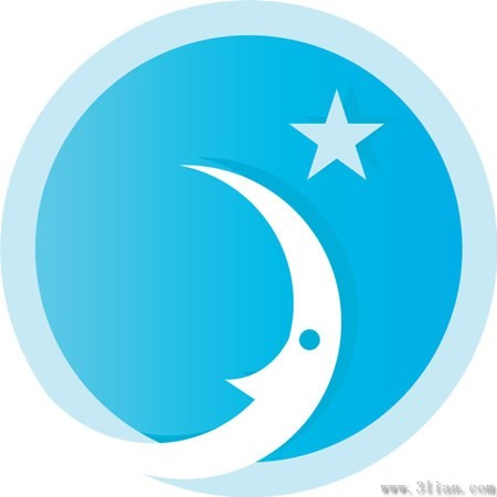 月亮星星图标