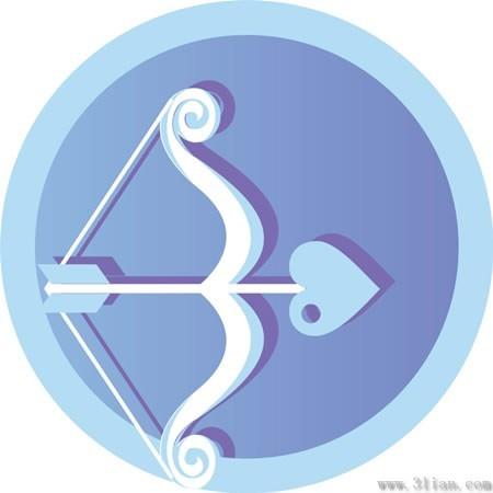 浅兰色背景素材; 浅蓝色弓箭图标;