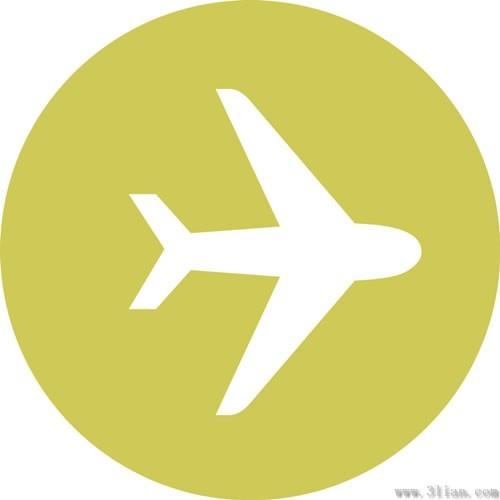 矢量飞机小图标