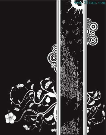 黑白花纹花边矢量图免费下载 千图网