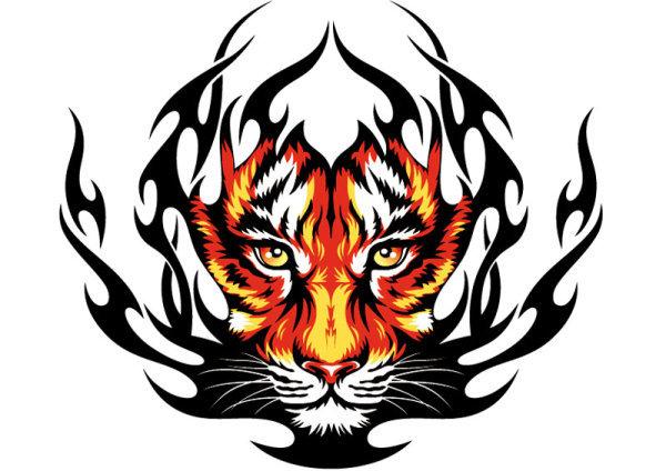 火焰老虎头像