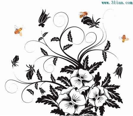 花朵与蜜蜂