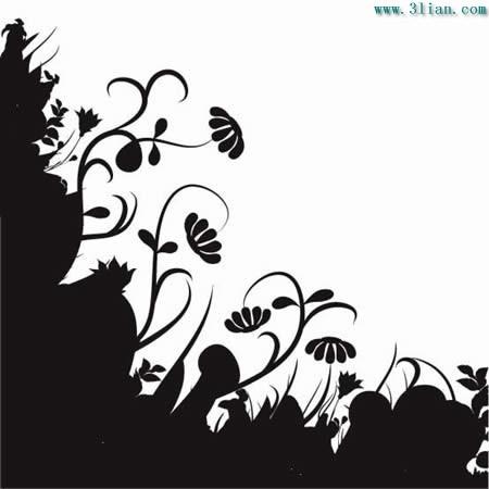 黑白植物花卉素材