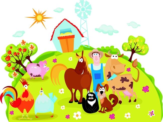 卡通 动物 乡村农场 畜牧场 卡通图片素材