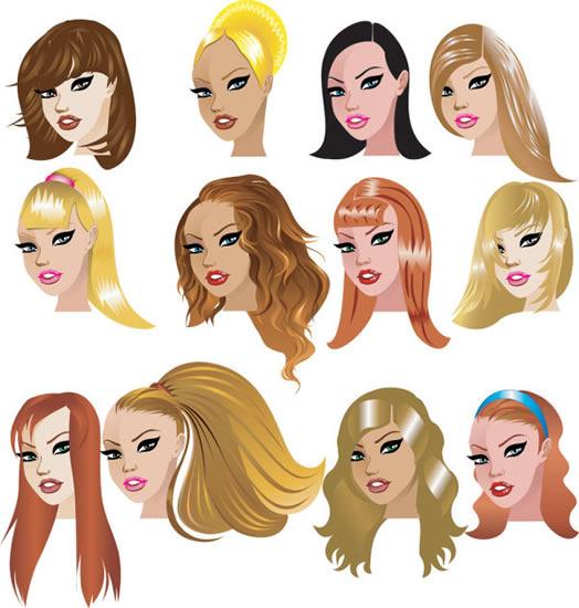 卡通女子发型