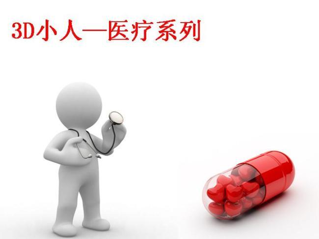 3d小人医疗系列商务ppt模板图片