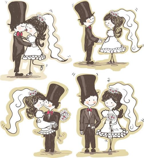 恋爱手绘漫画图片
