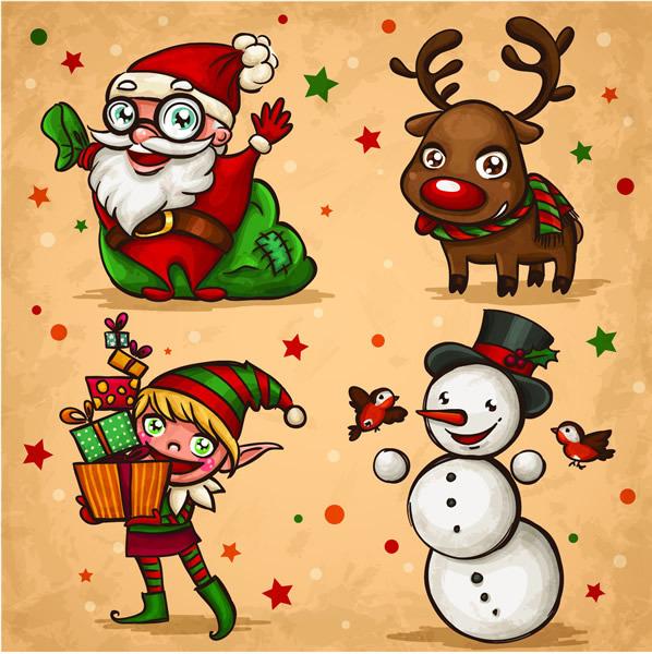 圣诞节卡通人物免费下载