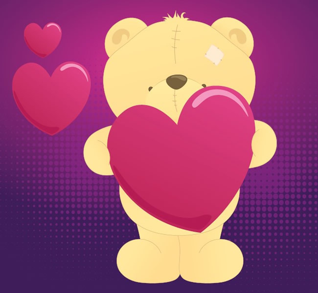 卡通小熊玩偶
