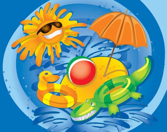 卡通太阳伞