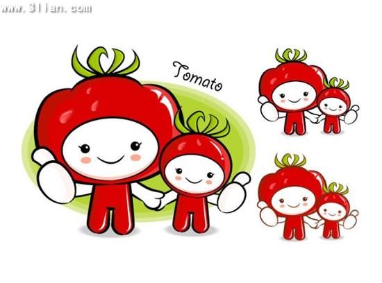 西红柿卡通水果