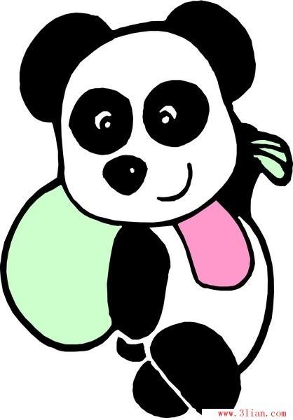 卡通熊 围巾; 卡通动物熊猫_卡通熊猫图片大全_卡通熊猫_银澜手机图片