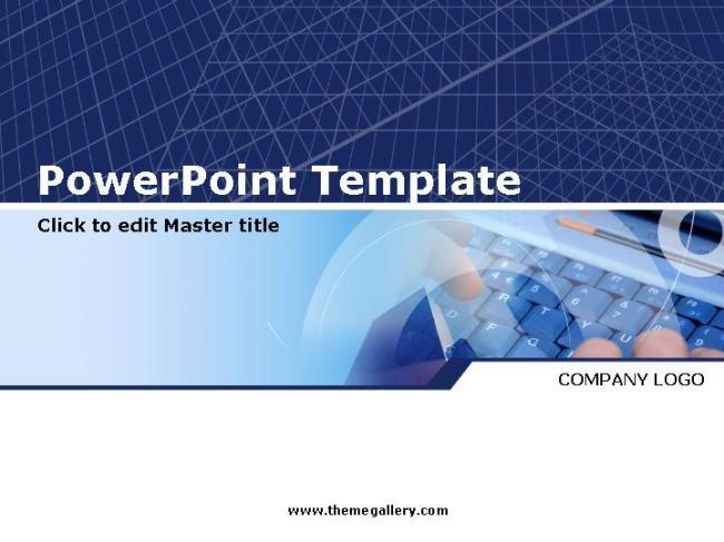 蓝色商务科技ppt模板
