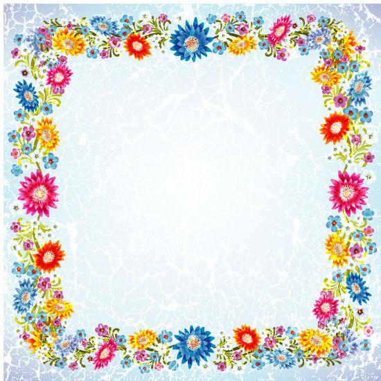 矢量典雅鲜花边框素材