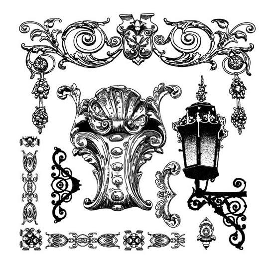 欧式雕花边框图片