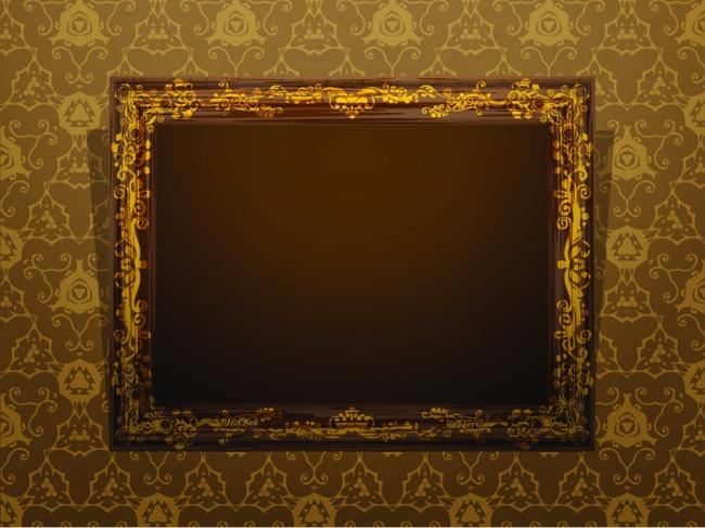 欧式木纹框架 纹理 肌理 纹样 墙面 壁纸 相框图片素材图片