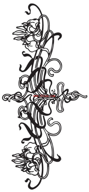设计图分享 黑白线条服装 > 黑白线描抽象花卉花纹图案素材  儿童线描