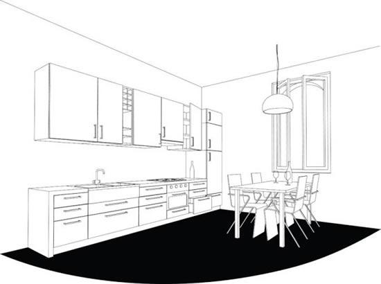 室内装饰线稿图