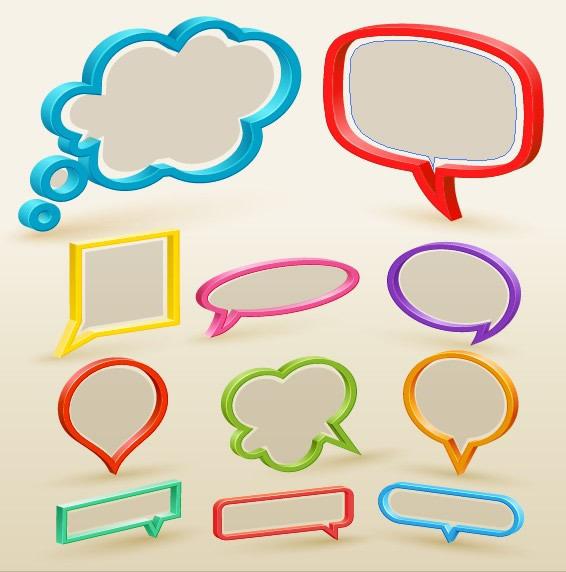 立體彩色對話框設計