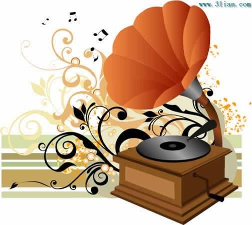 老式留声机矢量图免费下载-千图网www.58pic.com