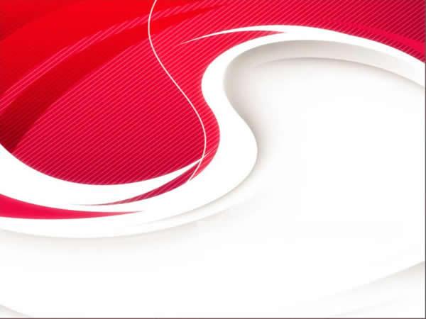 红色曲线背景ppt模板