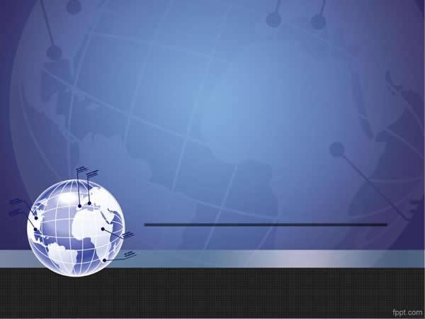 地球通讯ppt模板免费下载