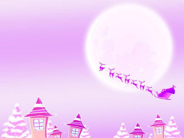 紫色圣诞节ppt模板