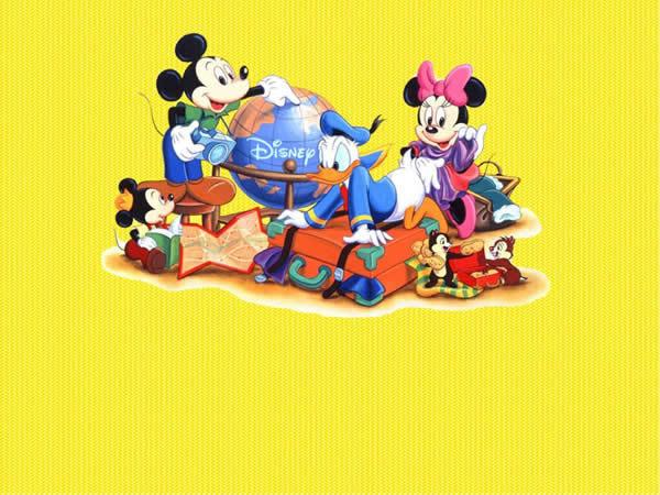 米老鼠与唐老鸭卡通ppt模板