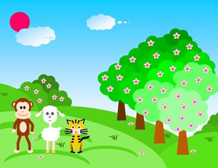 卡通动物ppt模板免费下载