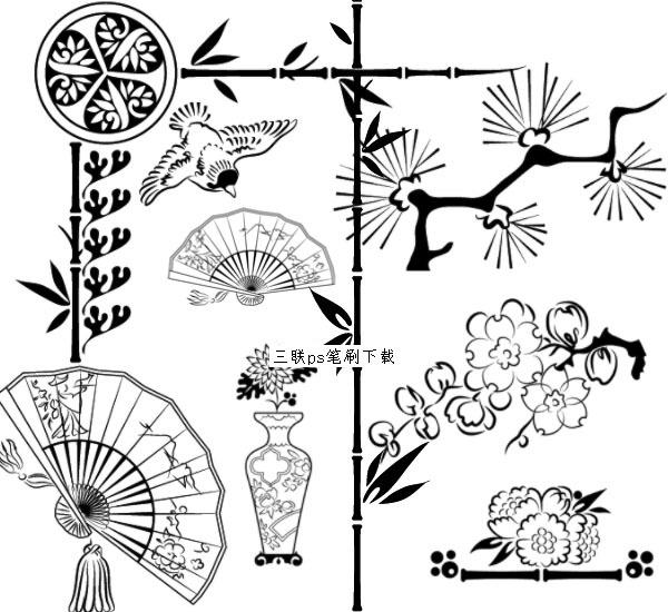中国风装饰ps笔刷