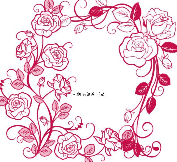 玫瑰藤蔓笔刷