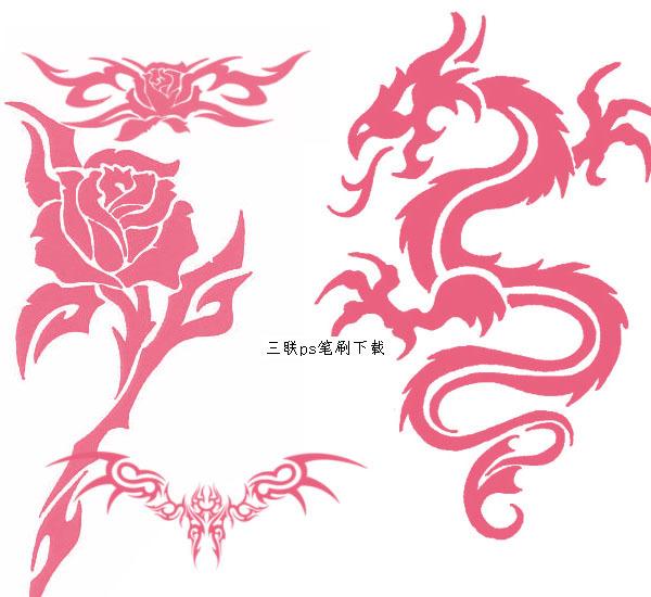 纹身图案ps笔刷psd素材免费下载-千图网www.58pic