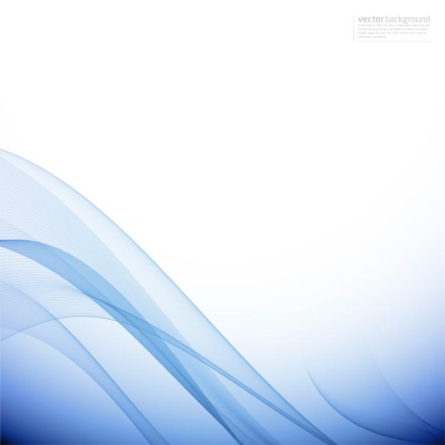 蓝色模板背景矢量图