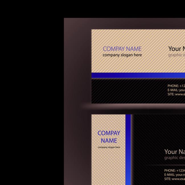 商务名片模板矢量素材免费下载