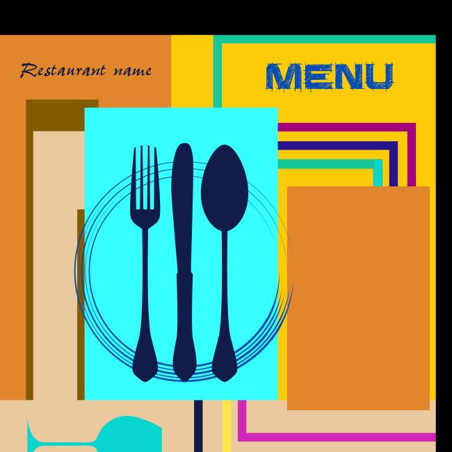 创意菜单设计矢量模板素材