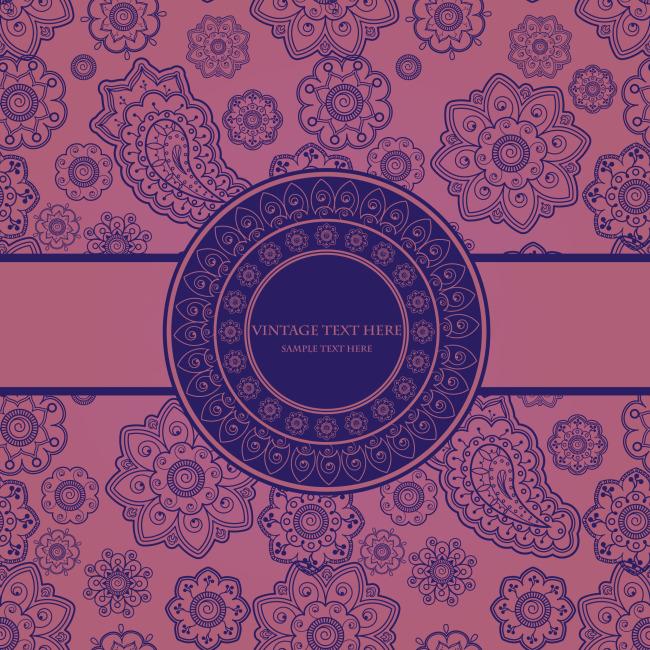 欧式古典花纹矢量卡片免费下载