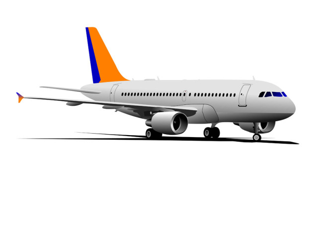 飞机效果图矢量图下载
