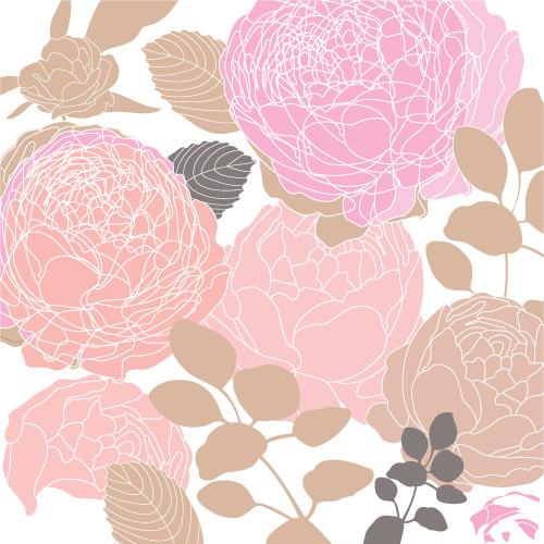 手绘鲜花背景矢量图