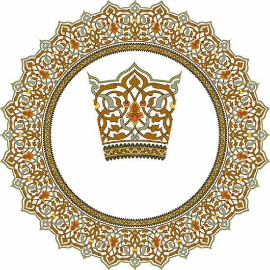欧式圆形皇冠边框矢量图图片