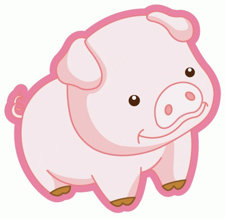 可爱猪矢量图下载免费下载