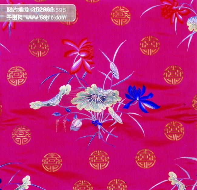 纹理布艺 中华刺绣图片